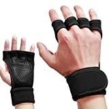 Skudgear Upgraded Palm Protection Weightlifting Gym Gloves Cross Training Silicone Padding Grip Adjustable