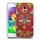 Head Case Designs Kord Und Bienen Gedruckte Patches Und Textilien Soft Gel Hülle für Samsung Galaxy S5 Mini