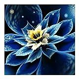 AFfeco Blue Flower 5D DIY Full Diamond pintura bordado punto de cruz decoración del hogar hecho a mano artesanía 300.00*300.00*10.00mm No.1