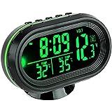 vickmall voiture écran LCD Thermomètre Horloge numérique portable petit Temps Température Celsius Air