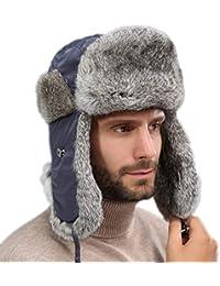 nihiug Bomber da Uomo Berretto da Trapper Cappello da Aviatore Cappello  Invernale da Sci Traspirante Inverno Caldo… 73393de1589b