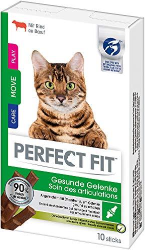 Perfect Fit Katzensnacks Katzenleckerli Gesunde Gelenke Sticks mit Rind, 90 Sticks (9 x 10 Sticks)