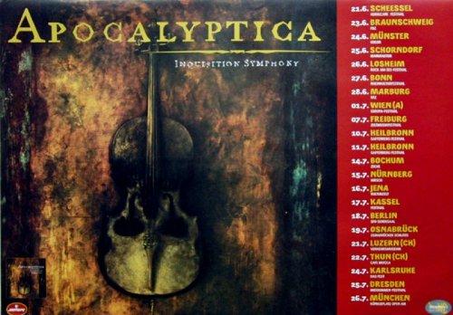 Apocalyptica-1998-Tour Poster-Inquisition Symphony-Tour Poster-Concert