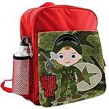 Personalised Boy Paintballing St384 Red Childrens Backpack Kids Rucksack Childs Nursery School Bag - Krafty Gifts - amazon.co.uk