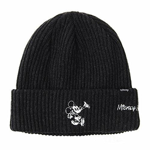 WITHMOONS Strickmützen Seemannsmütze Disney Mickey Mouse Ribbed Beanie Hat Slouchy CR5840 (Charcoal) (Mouse Mickey Beanie)