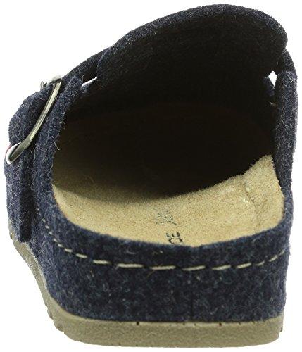Rohde Riesa-k, Pantoufles non doublées garçon Bleu - Blau (50 Blau)