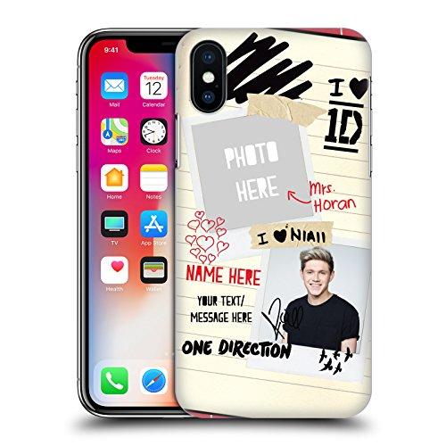 Cover Personalizzata Personale One Direction 1D Mrs. Styles I Ship Us Cover Retro Rigida per Apple iPhone X Mrs. Horan