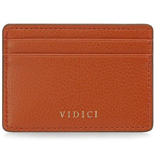 Vidici Kartenhalter Brieftasche mit Geschenk Ärmel - Orange/Bronze