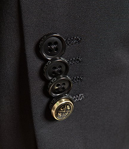 Michaelax-Fashion-Trade - Costume - Uni - Manches Longues - Homme Noir