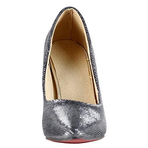 Amurleopard Escarpins Femme chaussures talon haut aiguille Noir