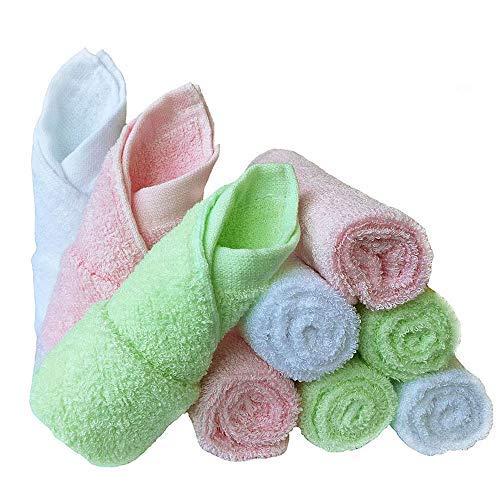 Bambus Baby Waschlappen natürlichen Bio-Baby-Gesicht Handtücher-Wieder verwendbar und extra weiche Neugeborene Baby Bad Waschlappen-geeignet für Sensible Haut Baby Registry als Dusch Geschenk 9 Pack