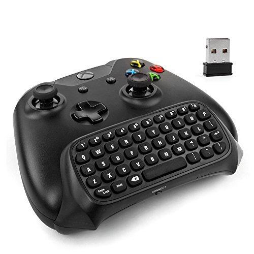 Xbox One Controller-Tastatur - 2,4 Ghz Wireless Mini Bluetooth Text Messenger Chatpad Tastatur Adapter für Xbox One Game Controller schwarz [Xbox One] - One Messenger