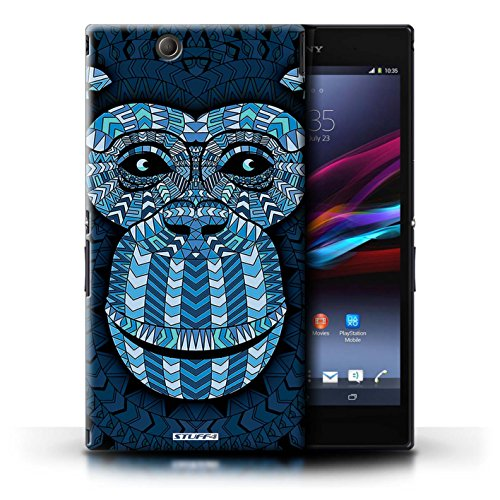 Kobalt® Imprimé Etui / Coque pour Sony Xperia Z Ultra / Loup-Rouge conception / Série Motif Animaux Aztec Singe-Bleu