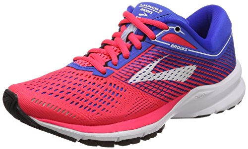 Brooks Launch 5, Scarpe da Running Donna, Nero (Pink/Blue/White 1b652), 38 EU