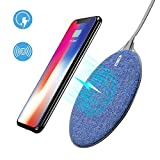 Fast Wireless Charger, Auckly 10W Qi Wireless Charging Pad for Samsung Galaxy Note