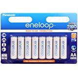Panasonic eneloop BK-3MCCE/4BE AA Batteries-Ni-Mh Battery (1,900mAh Pack of 8)