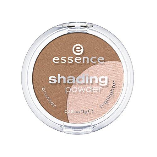 Essence Shading Powder Poudre Bronzante pour nuancer les contours du visage. Utilise le sublimateur illuminating pour un fini lumineux, n°02 Medium, 11 g, 0.38 oz.