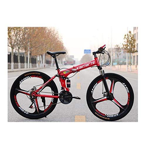 WJSW Bicicleta de montaña de 24 Pulgadas y 21 velocidades Frenos de Doble Disco Deportes Ocio Bicicleta...