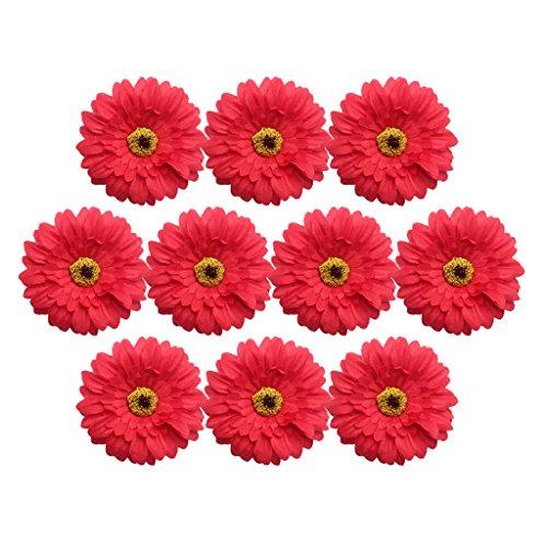 Baoblaze 10er Köpfe Kunst Pfingstrose Blumen Bouquet Kunstblumen Künstliche Pflanzen Deko - rot