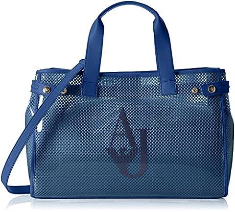 Armani Jeans Women's 9225917P780 Top-Handle Bag blue Blau (OCEAN BLU 09934)