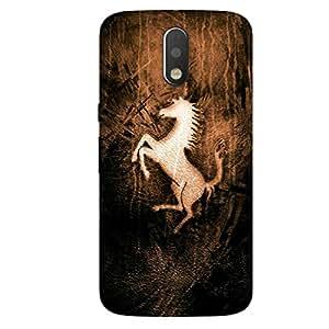 GripIt Ferrari Wooden Logo Case for Motorola Moto G4 Plus
