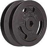 Hop-Sport Hantelscheiben 5kg 10kg 20kg 30kg 40kg Guss Gewichte Hantel Set Gewichtsscheiben 30mm (2 x 10 kg)