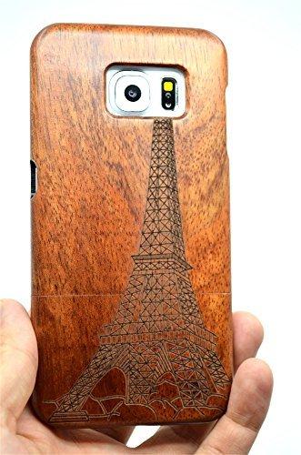 RoseFlower(TM) Samsung Galaxy S6 Holzhülle - Rosenholz Turm - NatürlicheHandgemachteBambus / Holz Schutzhüllemit Kostenlose Displayschutzfolie für Ihr Smartphone (Bambus-turm)