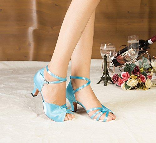 Miyoopark ,  Damen Tanzschuhe Blue-6cm heel