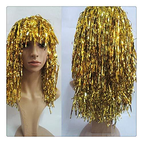 Z-one 1 Ägyptische Königin Kleopatra Kostüm Perücke Kopfbedeckung - Bachelorette Party Perücke - Gold Perücke mit Pony