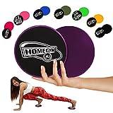 Slide Pads Von HomeGym 4 U - Gleitscheiben, Sliders Fitness Geeignet für Teppich- Oder Holzböden - Effektives Core Training Für Einen Flachen Bauch Und Straffe Bauchmuskeln, 2er Set – Violett