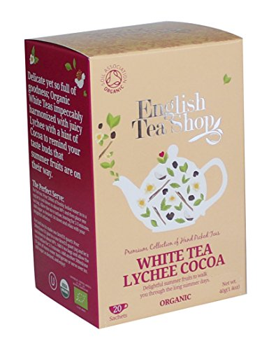 English Tea Shop - Weißer Tee Lychee & Kakao, BIO, 20 Teebeutel - (DE-Version)