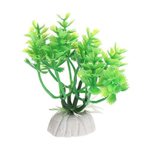 Preisvergleich Produktbild ECMQS 6.5 cm Unterwasser Künstliche Pflanze Gras für Aquarium zubehör Landschaft aquarium decor (Grün)
