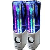 iBoutique® ColourJets - Altavoces para PC, Mac, reproductores MP3, teléfonos móviles, iPhone y tablets (alimentación por USB), diseño con agua que se