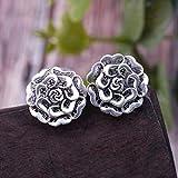 YOYOYAYA 925 Silber Ohrringe Weiblich Ornamente Mädchen Simple Ohrringe Parteien Termine Anhänger Antiallergisches Blumen