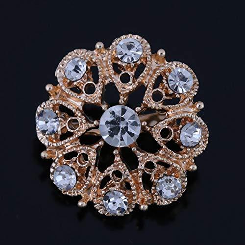 WYFCP Brooch Crystal Small Cute Flower Bejeweled Brooch Pins for Women Or Wedding Bouquets DIY Pins -