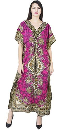 SKAVIJ Beach Dress Womens Designer Kaftan Night Wear Long Dashiki Kaftan Dress
