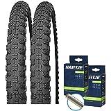 """SET: 2 x Kenda K50 Fahrrad BMX Reifen 20x2.125 + Schläuche Autoventil 20"""" Zoll"""