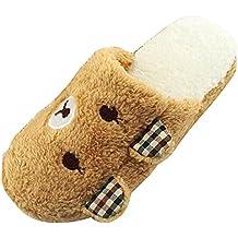 MHGAO donna casual pantofole Papa Bear Cartoon Fashion interni cotone sandali, 6, M