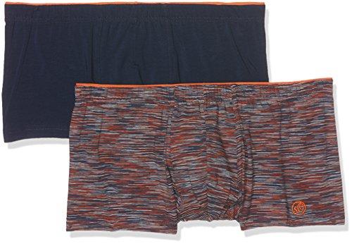 s.Oliver Herren Zweiteiliger Schlafanzug 17704973104 Orange (Orange Stripe + Blue 11C7)