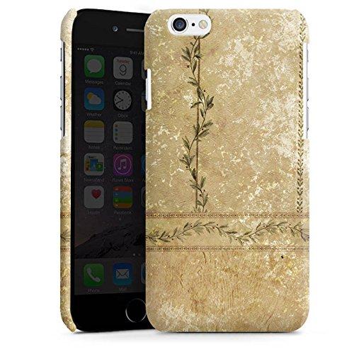 Apple iPhone 4 Housse Étui Silicone Coque Protection Vintage Rétro Collection Mur Feuilles Cas Premium brillant