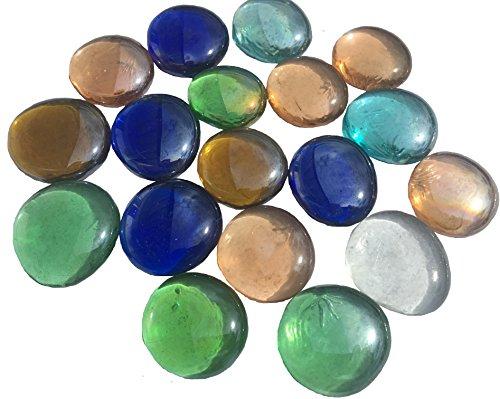 mezcla multicolor cristal piedras Nuggets 3,5cm 300g–Bolas plano Cristal bolitas de cristal...