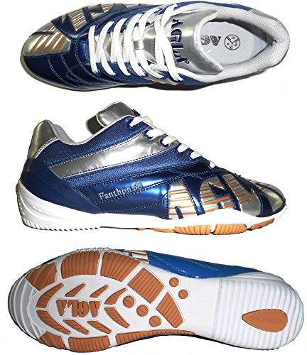 AGLA , Chaussures pour homme spécial foot en salle NAVY/SILVER