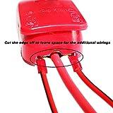 MOTOPOWER MP69011 Conectores de liberación rápida de la batería Terminales de desconexión rápida de la batería (rojo y negro)