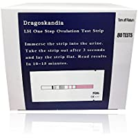 80 Tests de Ovulación 25 mIU/ml Formato 3mm LH Tiras de prueba (OPK) Spanish manual FDA / CE Approved prime