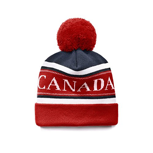 Canada-Goose-Mens-Merino-Logo-Pom-Hat-Navy-Red-White-One-Size