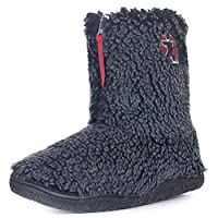 Bedroom Athletics Gosling Snow Tipped Sherpa Slipper Boots - Washed Peacoat Navy - UK 9/10