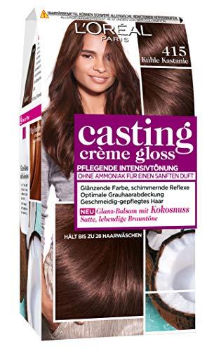 L\'Oréal Paris Casting Crème Gloss Glanz-Reflex-Intensivtönung 415 in Kühle Kastanie