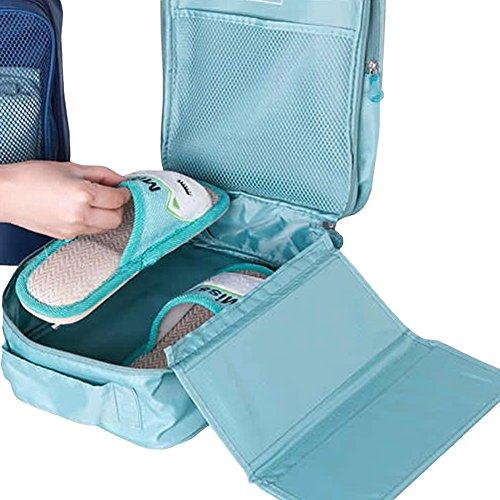 Damara® Unisex Einfarbig Schuhaufbewahrung Aufbewahrungstasche,Weinrot Grau