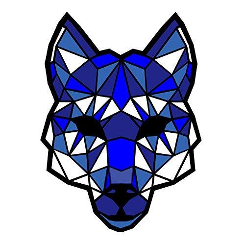 Home Halloween Cool Lion Gesichtsmasken Erwachsene, Clearance Sound Aktiviert LED Leuchten Dance Rave Party Notwendige Maske (Color : Blue)