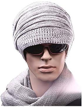 iknowy invierno otoño unisex sombreros se pliega Slouchy Beanie gorro lana Skull Cap